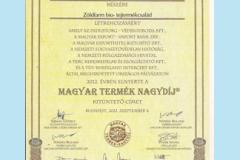 Magyar Termék Nagydíj 2012.